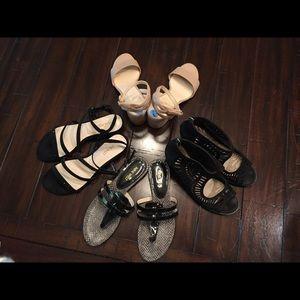 Vince Camuto leather shoe bootie heel BCBG Kors MK